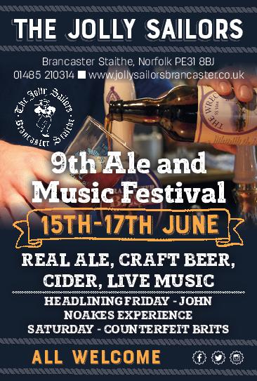 9th Ale & Music Festival: 15th, 16th & 17th June