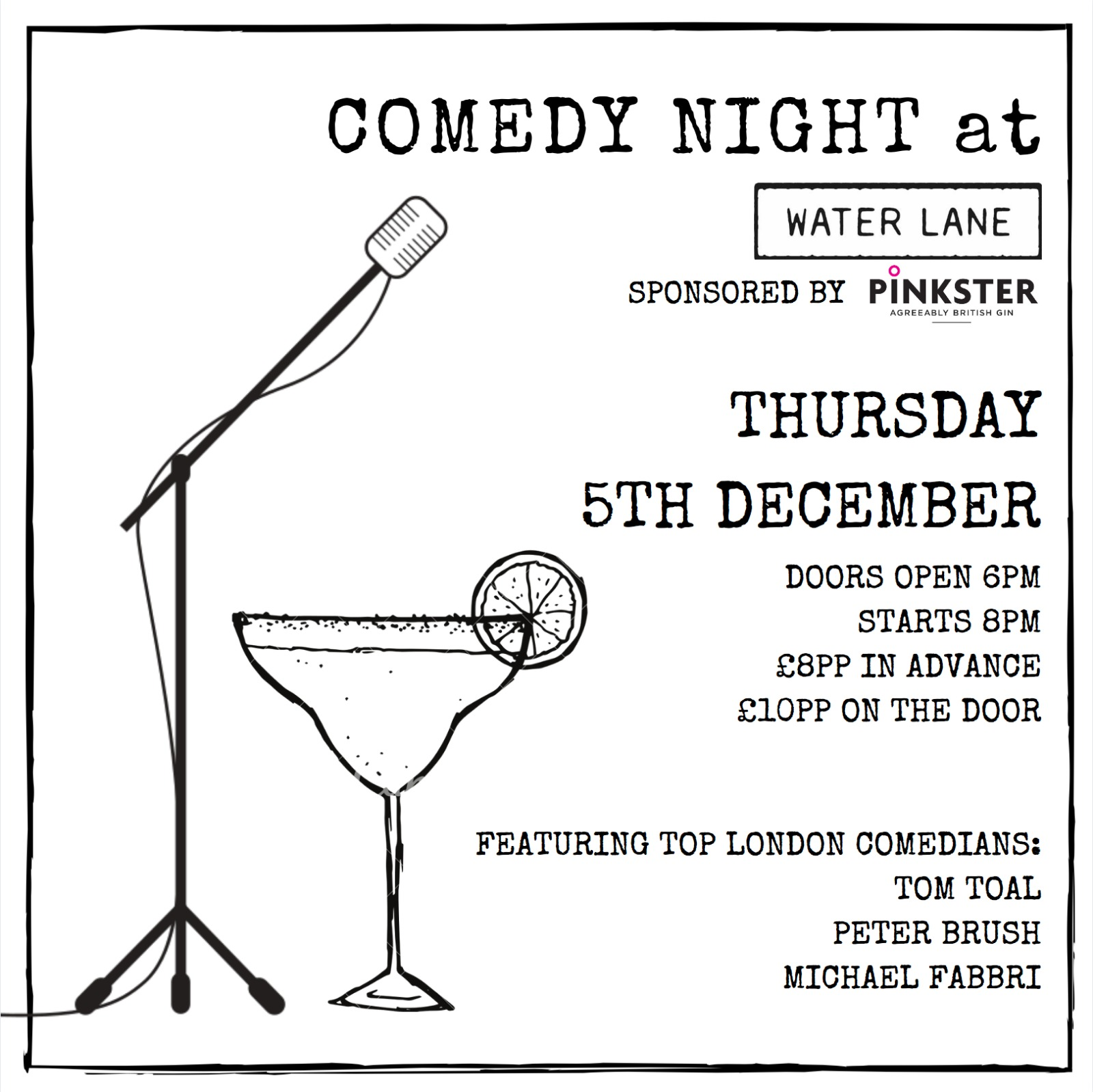 Water Lane Comedy Night