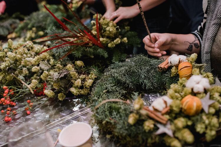 Wreath Making at The Farmhouse