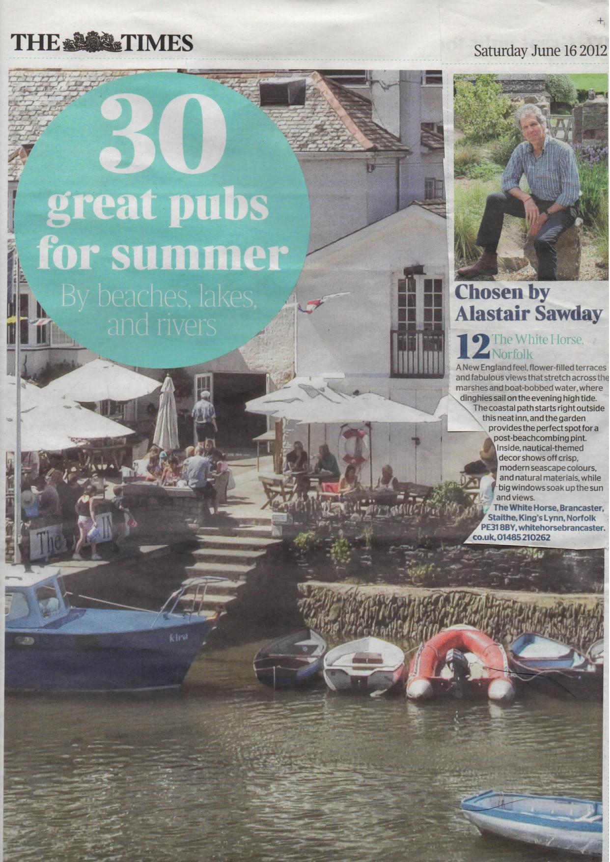 30 great pubs for summer by beaches, lakes and rivers - The Times