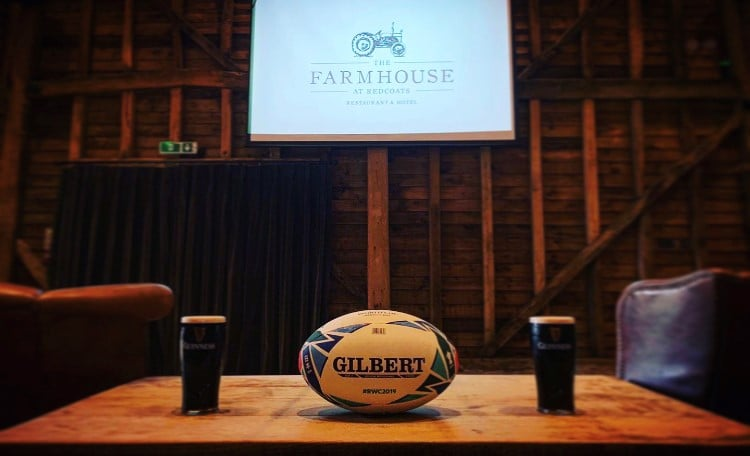 Watch the Rugby World Cup at The Farmhouse