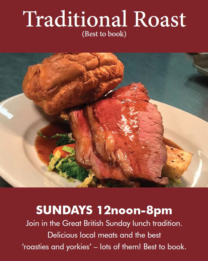 Join us for a traditional Sunday Roast