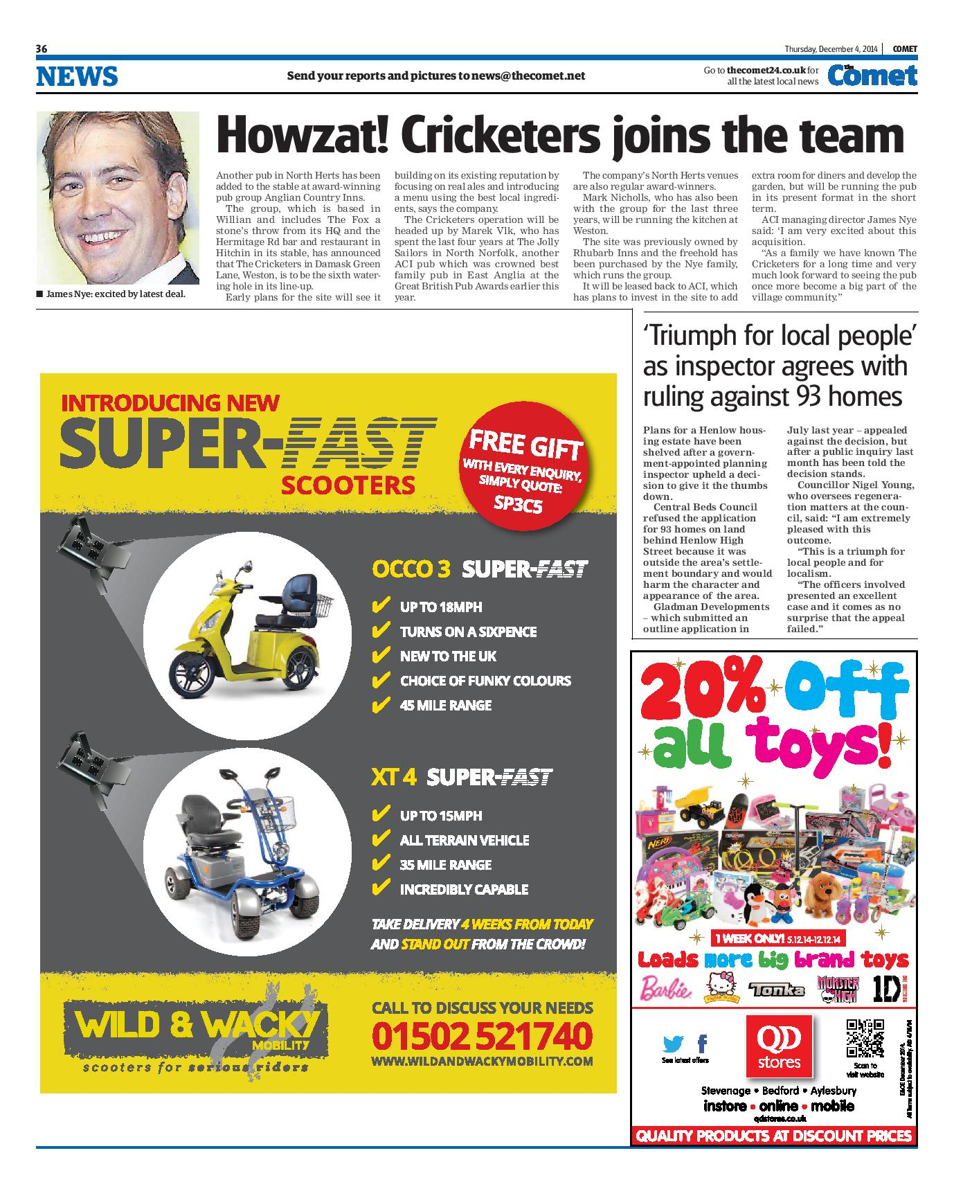 Howzat! Cricketers joins the team - COMET December 2014