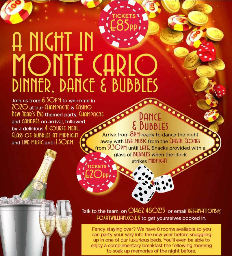 New Years Eve - A Night in Monte Carlo